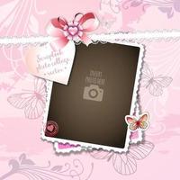 Pensando em você Scrapbook Collage Photo Frame vetor