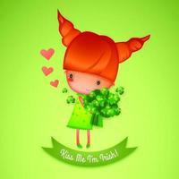 O dia de St Patrick beija-me que eu sou irlandês vetor