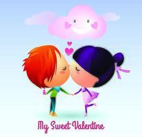 My Sweet Valentine Dia dos Namorados vetor