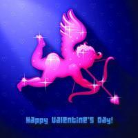 Arqueiro do Cupido do Dia dos Namorados
