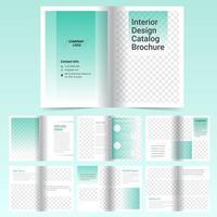 Modelo de brochura - catálogo verde de 16 páginas