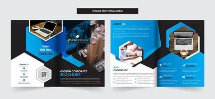 Modelo de Brochura - corporativo bifold vetor