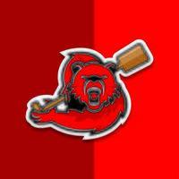mascote de esportes remar urso vetor