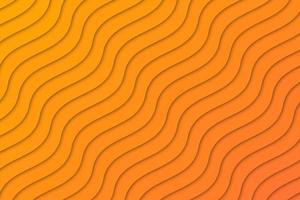 Abstrato geométrico onda laranja vetor