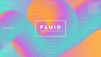 Fundo fluido moderno movimento espigado gradiente vetor