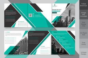 Design de brochura quadrada em três partes para negócios corporativos vetor