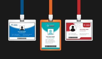 cartão de identificação do pessoal do escritório da empresa vetor