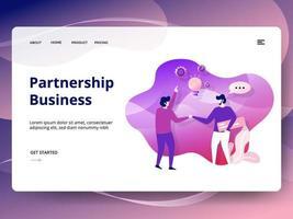Modelo de site de negócios de parceria