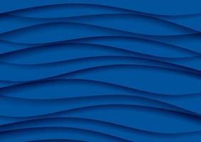 Abstrato em camadas em azul clássico vetor