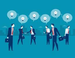 Empresário, apresentando o mecanismo e idéias vetor