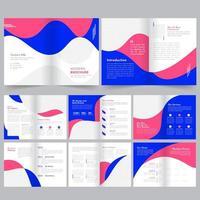 Modelo de Brochura - perfil da empresa de design arredondado