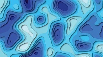 Corte de papel azul fundo geométrico vetor