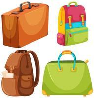 Um conjunto de mala de viagem vetor