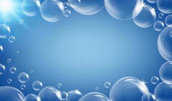 Design de moldura com bolhas vetor