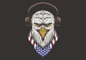 Projeto principal dos EUA da águia vetor