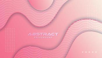 Fundo de curvas em camadas gradiente rosa vetor