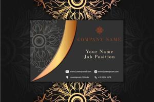 Cartão de visita de luxo
