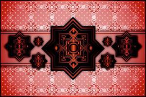 Fundo vermelho padrão ornamental