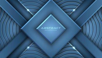 Fundo de formas geométricas em camadas azuis