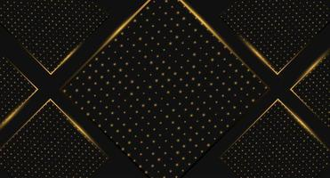 Fundo especial de diamante preto e dourado vetor