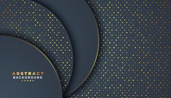 Fundo escuro abstrato com círculos sobrepostos vetor