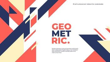 Fundo geométrico laranja, amarelo e azul vetor
