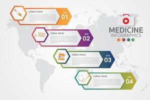Infográfico de farmácia de medicina vetor