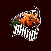 Emblema da equipe de rinoceronte vetor