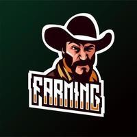 Emblema de Cowboy de agricultura vetor