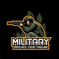 Emblema de jogos militares vetor
