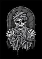 Ilustração de zumbi de múmia vetor