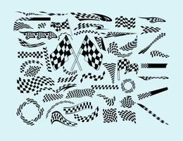 Bandeiras de corrida vetor