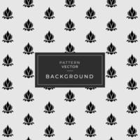 design de mármore preto com padrão floral de lótus vetor
