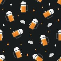 canecas sem emenda do padrão de cerveja vetor