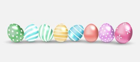 ovos de páscoa decorados vetor