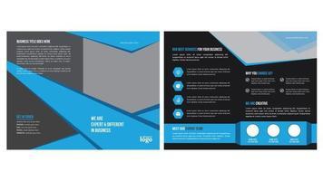 design de brochura angular moderna azul e preta
