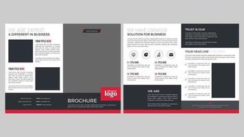 design moderno de páginas de brochura vermelha e cinza