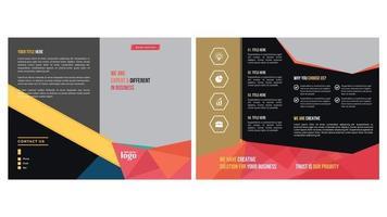 design bi-fold com desenho geométrico colorido
