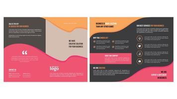 brochura comercial mínima com formas multicoloridas