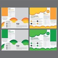 modelo de folheto corporativo com formas coloridas