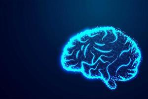 cérebro humano inteligência abstract blue design vetor