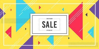 banner de venda geométrica amarela