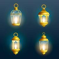 conjunto de lanternas do ramadã vetor