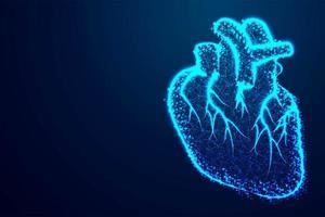 design moderno do coração humano vetor