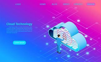tecnologia moderna de nuvem e segurança