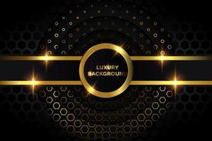 design de círculos de ouro e preto de luxo vetor