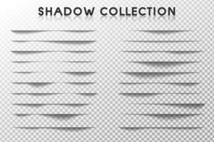 conjunto de borda de sombra vetor