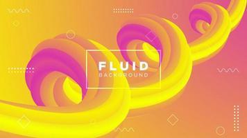 design de gradiente fluido de movimento espiral vetor