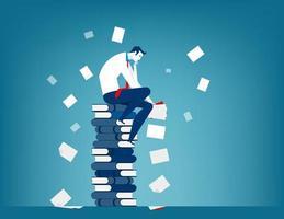 empresário cansado no trabalho vetor