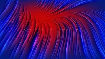 design abstrato vermelho linha azul